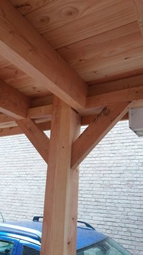 B-keus houtpakket tbv overkapping van 300x300cm