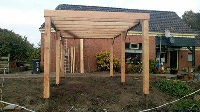 Douglas carport 4x5m vrijstaand carport en overkappingen for Goedkoop vrijstaand huis bouwen