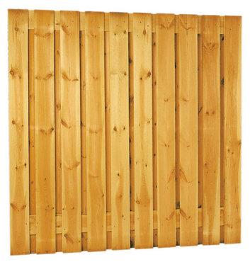 Geschaafd plankenscherm grenen 21-planks 17 mm 180 x 180 cm, verticaal recht.