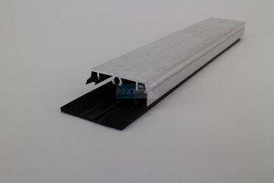 Profielset - Oplegrubber + zijsluitprofiel 16mm