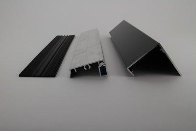 Profielset - Oplegrubber + Zijsluitprofiel 16mm + Kliklijst in RAL