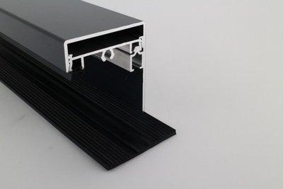 Profielset - Oplegrubber + Zijsluitprofiel 10mm + Kliklijst in RAL