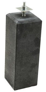 Verstelbare beton poer antraciet